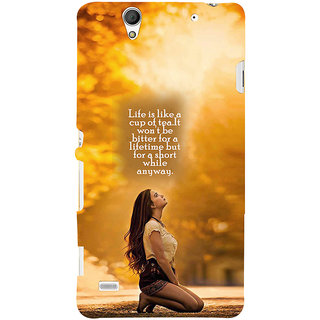 ifasho young Girl with quote Back Case Cover for Sony Xperia C4