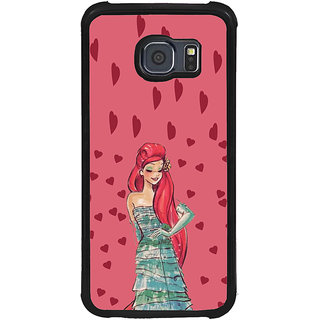 ifasho Cute Girl animated Back Case Cover for Samsung Galaxy S6 Edge Plus