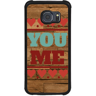 ifasho Quote On Love you and me Back Case Cover for Samsung Galaxy S6 Edge Plus