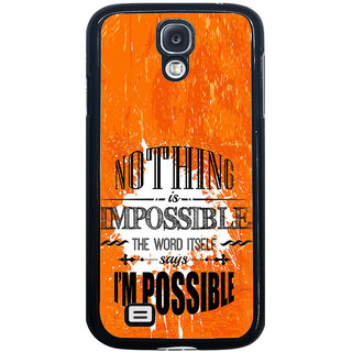 ifasho Good Quote on Achivement Back Case Cover for Samsung Galaxy S4