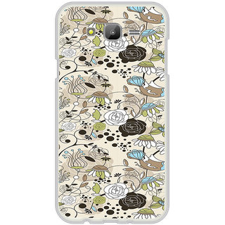 ifasho Animated Pattern colrful design flower with leaves Back Case Cover for Samsung Galaxy J5