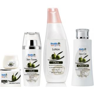 Healthvit Olive Oil Skin Care Kit (Oil ,Lotion,Toner,Cream)