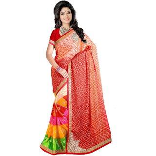 Karishma Multicolor Jacquard Printed Saree With Blouse