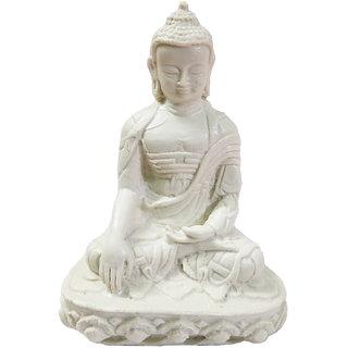 Striking Handmade Marble Dust Lord Buddha Statue