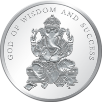 5 Gms Silver 999 Ganesh Ji Without Color Coin