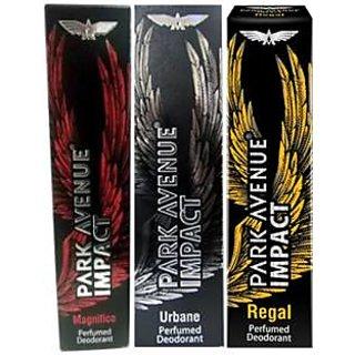 Park Avenue Impact Deodorants Magnifico,Urbane  Regal for Men (Set of 3)