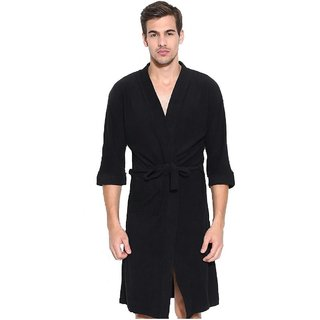 Imported Cotton Bathrobes (Black)
