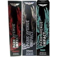 Park Avenue Impact Deodorants Magnifico,Urbane  Icon 140 Ml Each For Men(Set Of 3)