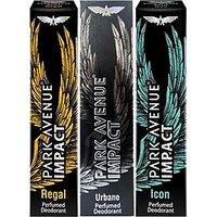 Park Avenue Impact Deodorants Regal, Urbane  Icon 140 Ml Each For Men(Set Of 3)