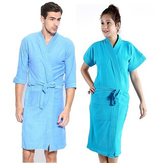 Buy Imported Cotton Bathrobes Combo (Pack of 2)- Firozi Online - Get ... ac8cebc7c