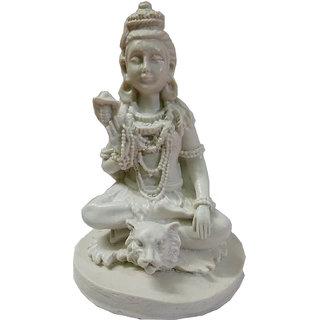 Impressive Handmade Marble Dust God Lord Shankar Ji Statue