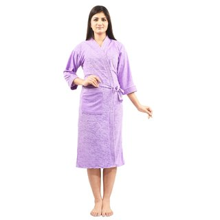 Imported Cotton Bathrobe (Mauve)