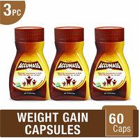 Accumass Ayurvedic Capsules 60Caps For Weight Gain (Pack of 3)