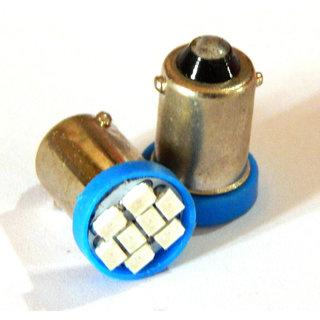 AutoZot 8 LED Parking / pilot Bulb FOR ENFIELD BULLET 350 500- BLUE - 2 pc