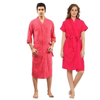 Imported Cotton Bathrobes Combo (Pack of 2)- Rani