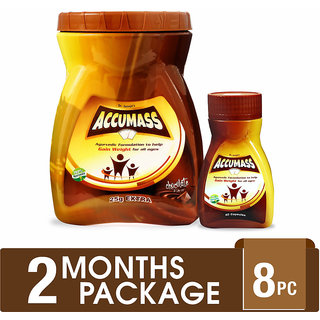 Accumass Ayurvedic Weight Gainer 2 Months Combo Package