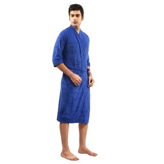 Imported Cotton Bathrobe (Royal Blue)-Full