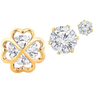 Spargz Floral Multi Piercing Earrings With AD Stone For Women AIER 615