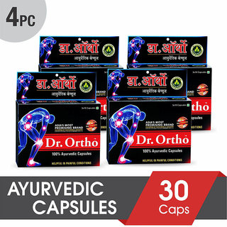Dr Ortho Ayurvedic Joint Pain Relief Capsules 30Caps (Pack of 4)