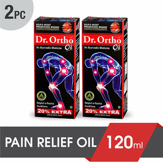 Dr Ortho Ayurvedic Joint Pain Relief Oil 120ml (Pack of 2)