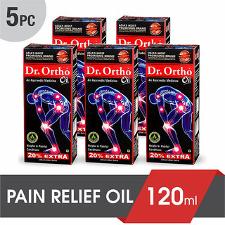 Dr Ortho Ayurvedic Joint Pain Relief Oil 120ml (Pack of 5)