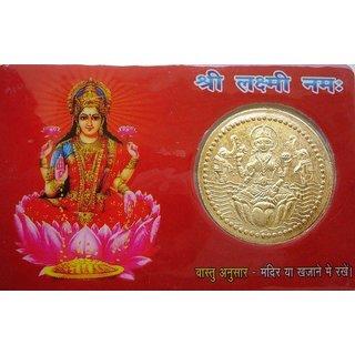 Goddess Laxmi Dhan Laxmi Vaibhav Laxmi Pocket Card Yantra Keep In Purse Temple House Diwali Gifts