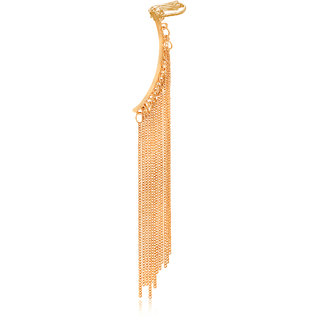 Spargz Party Style Diva Golden Multi Long Tassel Ear Cuff For Women AIER 618
