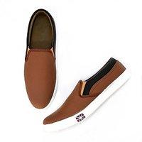 Men's Brown Slip On Casual Shoe