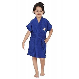 Kids Cotton Bathrobe (Royal Blue)