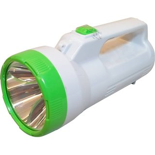Rechargeable LED Torch Light With Dual Function Torches (Green, Red, White,  Blue