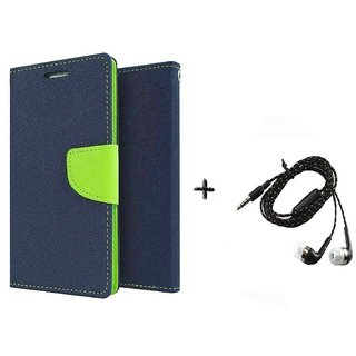 Mercury Goospery Wallet Flip Cover For  Sony Xperia Z5 (BLUE) With Tarang Earphone