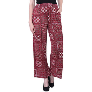 Oxolloxo Women red smocking pants