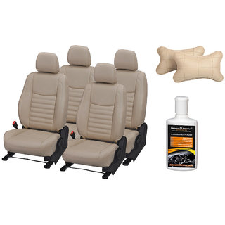 Pegasus Premium Seat Cover for Skoda Fabia with Neck rest and Dashboard polish