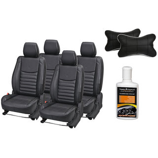 Pegasus Premium Seat Cover for Toyota Etios with Neck rest and Dashboard polish
