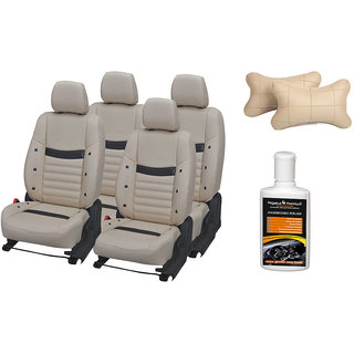 Pegasus Premium Seat Cover for Hyundai Verna with Neck rest and Dashboard polish