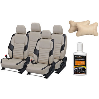 Pegasus Premium Seat Cover for Mahindra KUV 100 with Neck rest and Dashboard polish