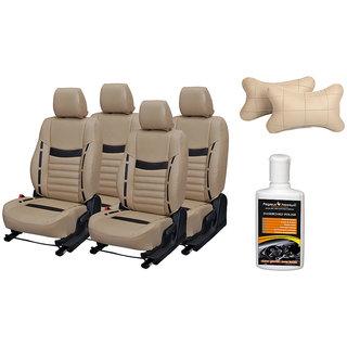 Pegasus Premium Seat Cover for Maruti Alto K10 with Neck rest and Dashboard polish