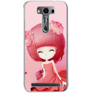 ifasho Cute Girl Back Case Cover for Asus Zenfone Go