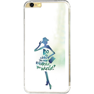 ifasho Quotes on shopping girls Back Case Cover for Apple Iphone 6