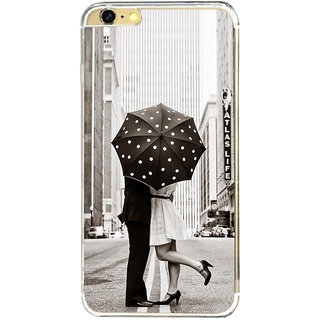 ifasho couple kissing in rain with umbrella Back Case Cover for Apple Iphone 6