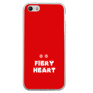 ifasho Fiery Heart modern quotes Back Case Cover for Apple Iphone 4
