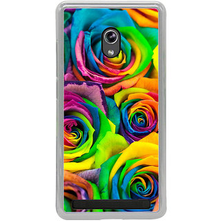 ifasho Animated Pattern colorful rose flower Back Case Cover for Asus Zenfone 6