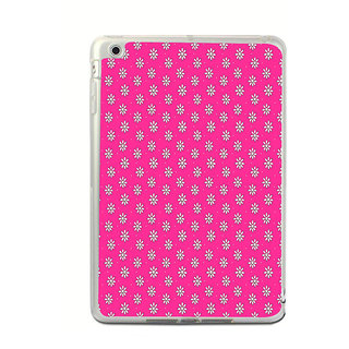 ifasho Animated Pattern design white flower in pink background Back Case Cover for Apple IPad Mini 4