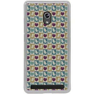 ifasho Animated Pattern birds and heart small size  Back Case Cover for Asus Zenfone 5