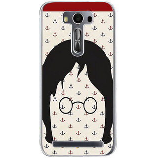ifasho Modern Art Design Pattern with Lot Of small anchor Back Case Cover for Asus Zenfone Go