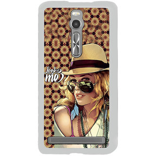 ifasho Look at me Girl Back Case Cover for Asus Zenfone 2