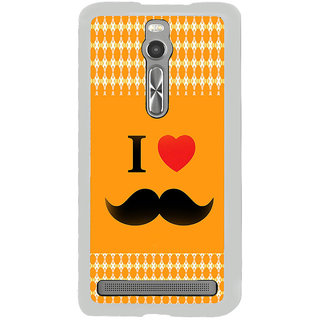 ifasho I love Moustache Back Case Cover for Asus Zenfone 2