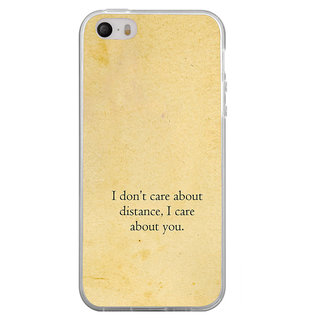 ifasho care quotes  Back Case Cover for Apple Iphone 4