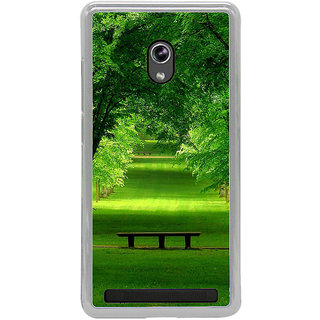 ifasho Green grass road with trees on the two side Back Case Cover for Asus Zenfone 6
