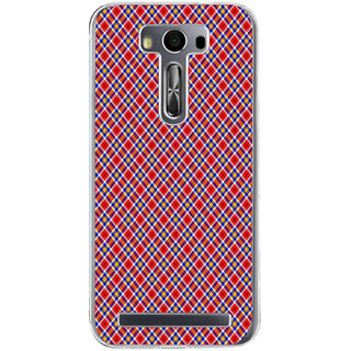ifasho Colour Full Square Pattern Back Case Cover for Asus Zenfone Go